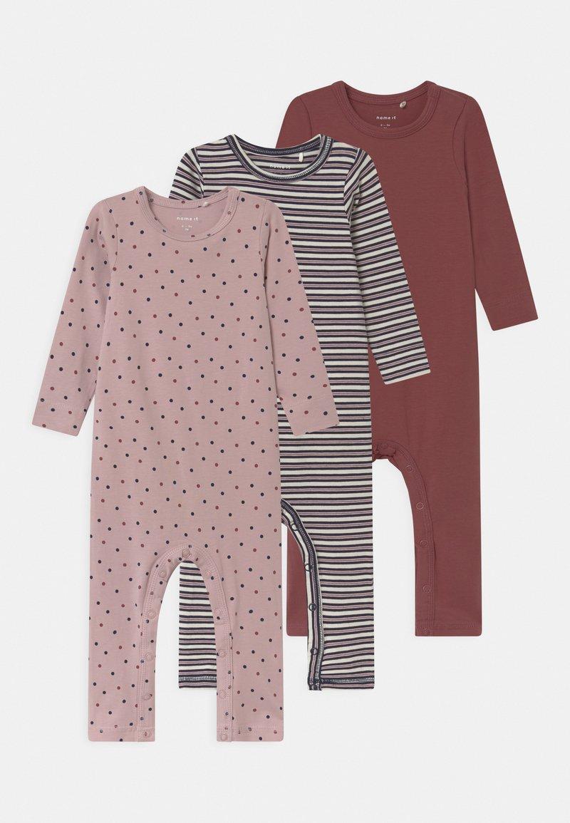 Name it - NBFRONLA 3 PACK - Pyjamas - dark sapphire/wild ginger