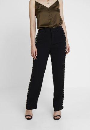 LORENZA PANTS - Pantaloni - jet black