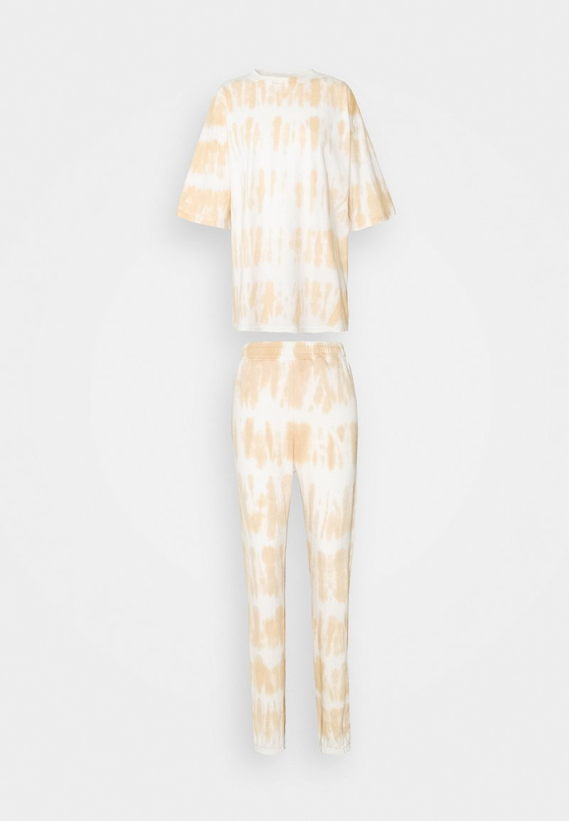 Missguided Tall - TIE DYE OVERSIZED JOGGER SET - Print T-shirt - camel
