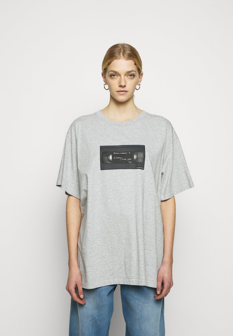 MM6 Maison Margiela - Print T-shirt - melange grey