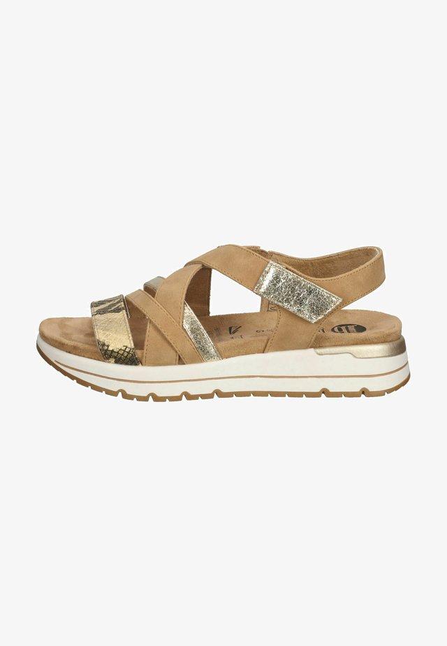Sandals - hellbraun
