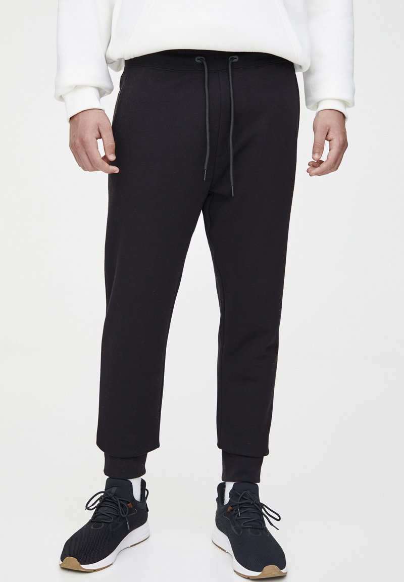 PULL&BEAR - Spodnie treningowe - black