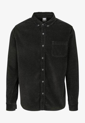 CORDUROY - Skjorta - black