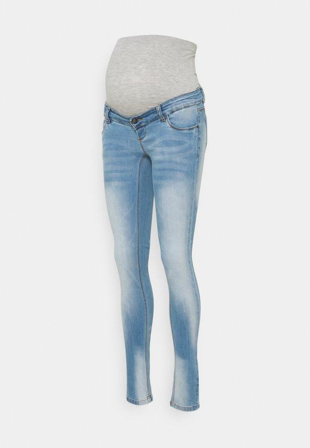 MLBIRDIE NEW HIGH BACK - Skinny džíny - light blue denim