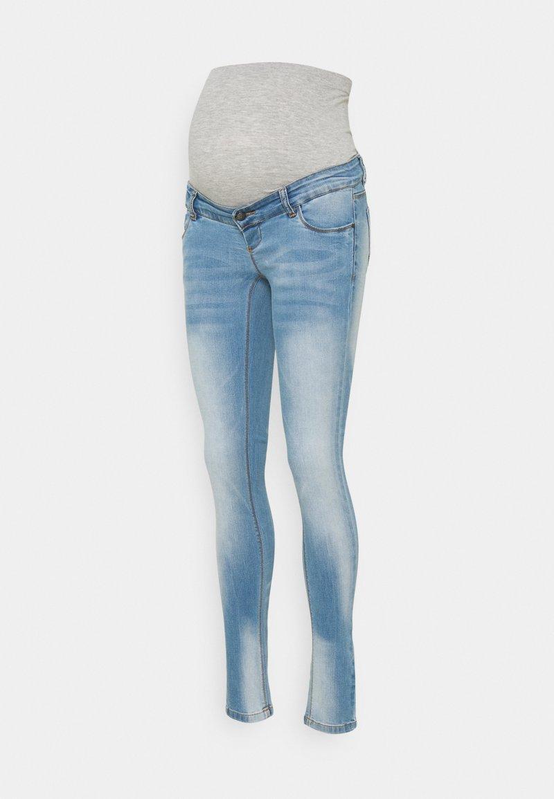 MAMALICIOUS - MLBIRDIE NEW HIGH BACK - Jeans Skinny Fit - light blue denim