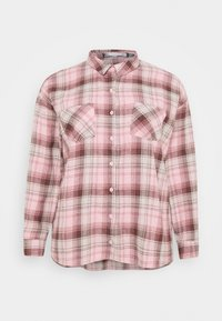 Missguided Plus - OVERSIZED CHECK  - Button-down blouse - pink - 0