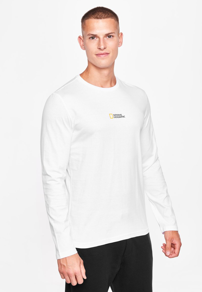 National Geographic - MIT PRINT - Long sleeved top - white