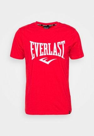 BASIC TEE RUSSEL - T-Shirt print - red