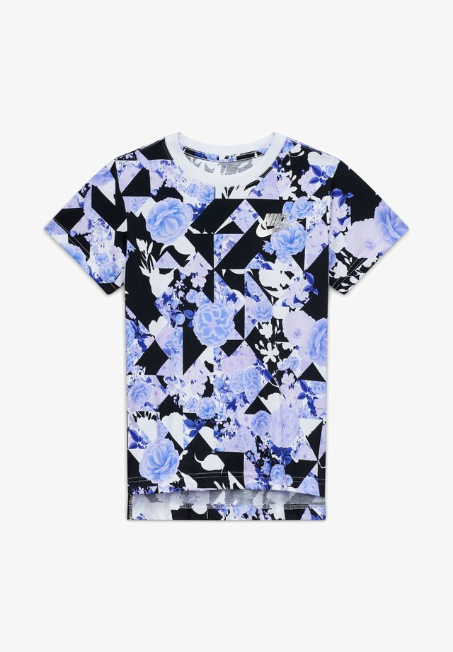 G NSW ICONCLASH AOP DPTL - Print T-shirt - violet star/white/black