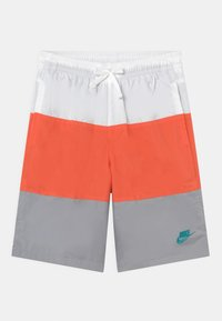 Nike Sportswear - WOVEN BLOCK - Shorts - white/turf orange/wolf grey/aquamarine - 0