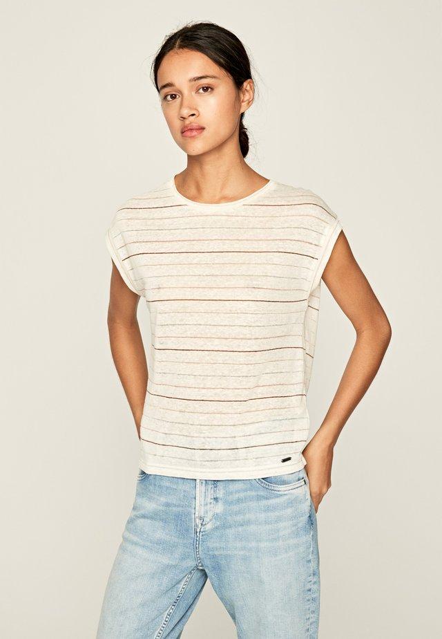 LORENA - T-shirt con stampa - white