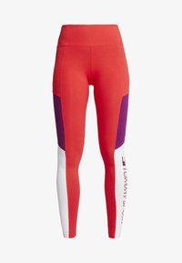 Tommy Sport - BLOCKED LOGO - Leggings - red - 5
