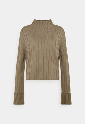 CROPPED TURTLE NECK - Jumper - taupe