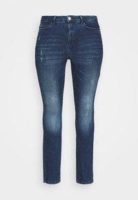 JUNAROSE - by VERO MODA - JRONEABBELINE - Slim fit jeans - dark blue denim - 4