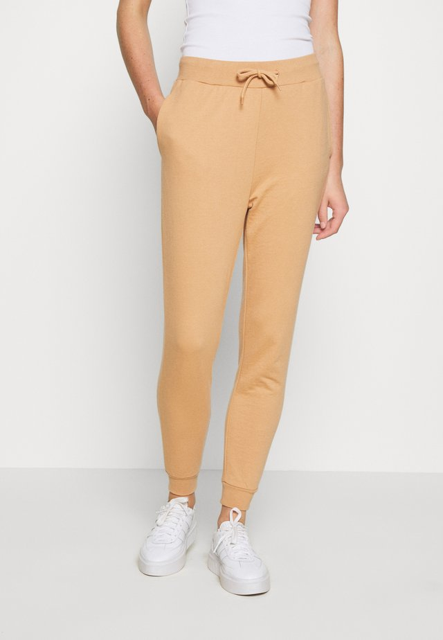 BASIC - Slim Fit Joggers - Tracksuit bottoms - tan