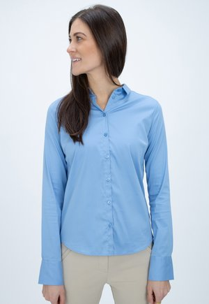Button-down blouse - bel air blue
