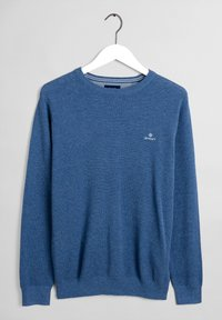 GANT - C NECK - Stickad tröja - denim blue - 7