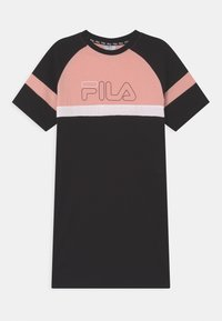 Fila - JUMA  - Žerzejové šaty - black/coral cloud/bright white - 0