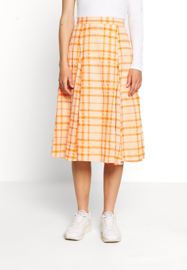 SKIRT - Jupe trapèze - orange