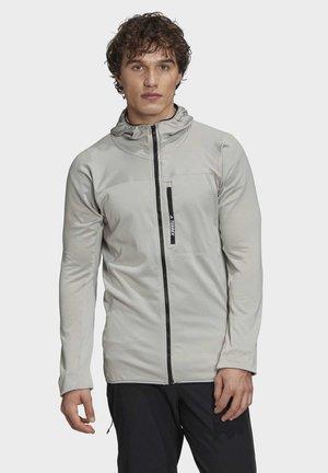 TRACEROCKER HOODED FLEECE JACKET - Fleece jacket - grey