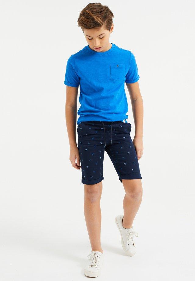 MET PRINT - Shorts - dark blue