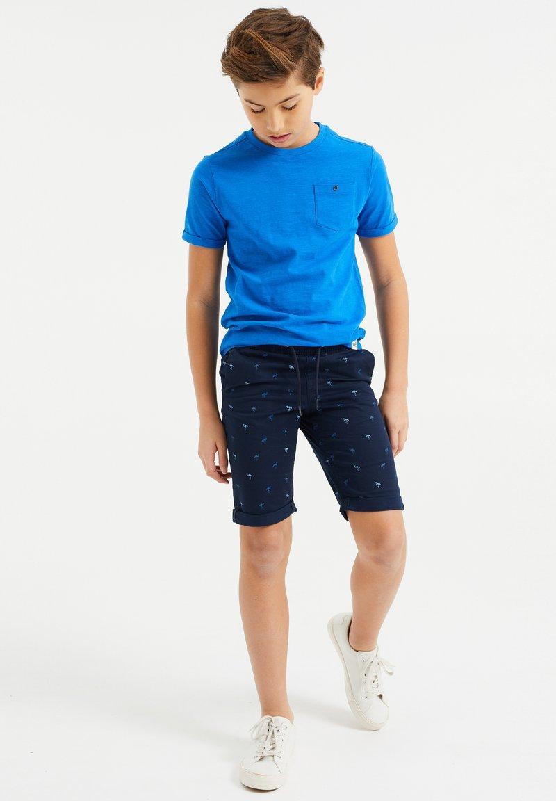 WE Fashion - MET PRINT - Shorts - dark blue