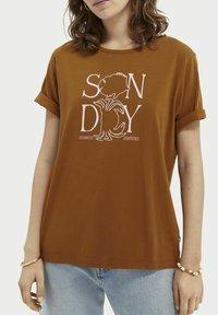 Scotch & Soda - Print T-shirt - spice - 3