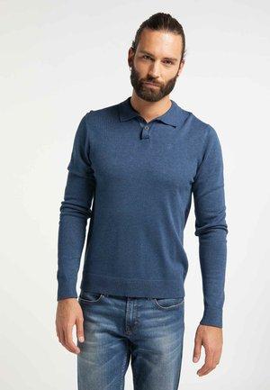 Poloshirt - dark blue melange