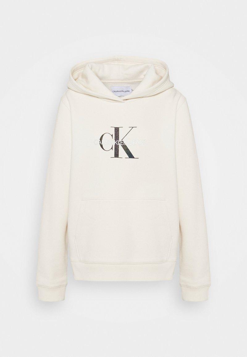 Calvin Klein Jeans - REFLECTIVE MONOGRAM HOODIE - Sweatshirt - white sand