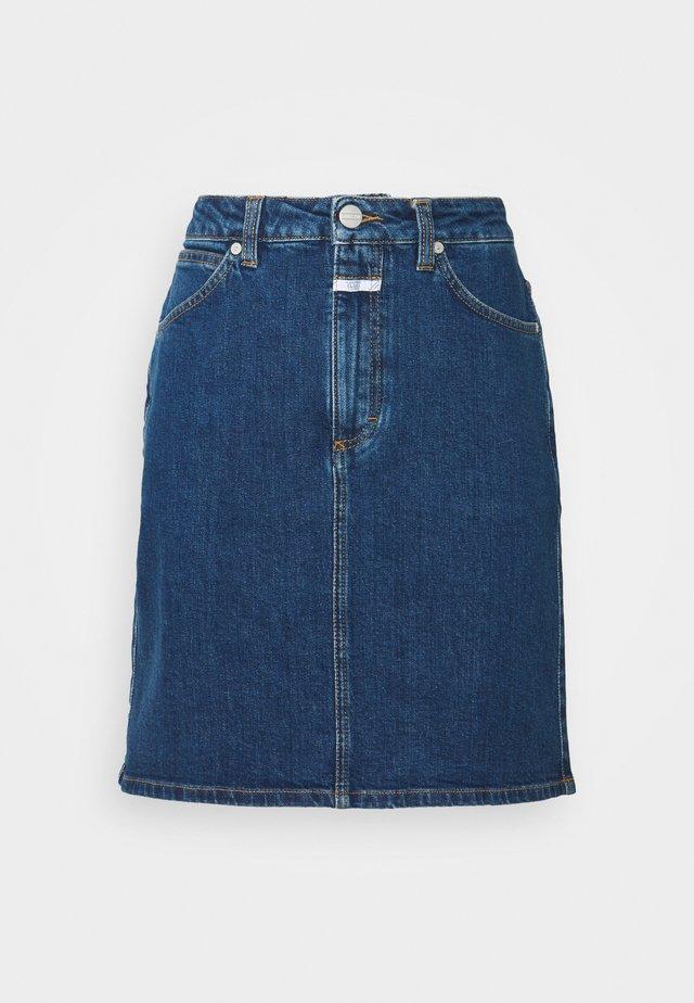 SHEMMETT - Mini skirts  - dark blue