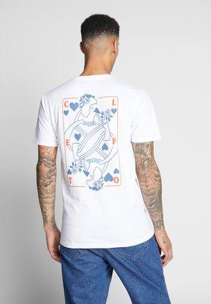 CARDS - Print T-shirt - white