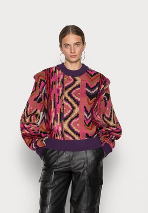 RED STRIPES PATCHES SWEATER - Jumper - red patches