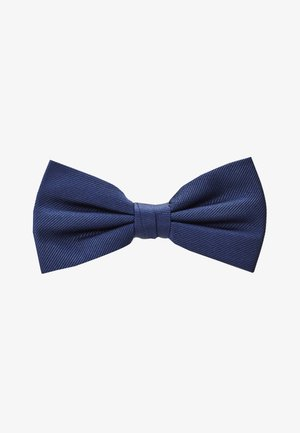 SOLID RIBBED BOWTIE - Bow tie - blue