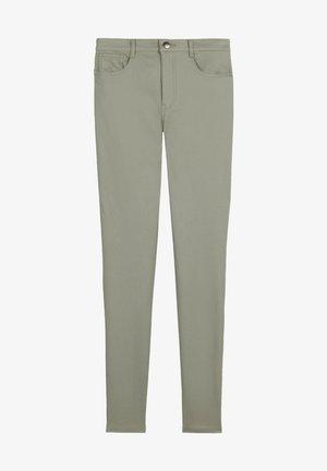MIT LEDEREFFEKT - Leggings - Trousers - grün - verde salvia