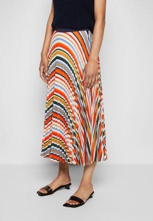 PLEATED STRIPE SKIRT - Pleated skirt - multi