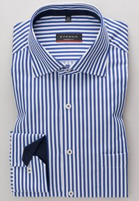 Eterna - MODERN FIT - Shirt - blau/weiß - 4