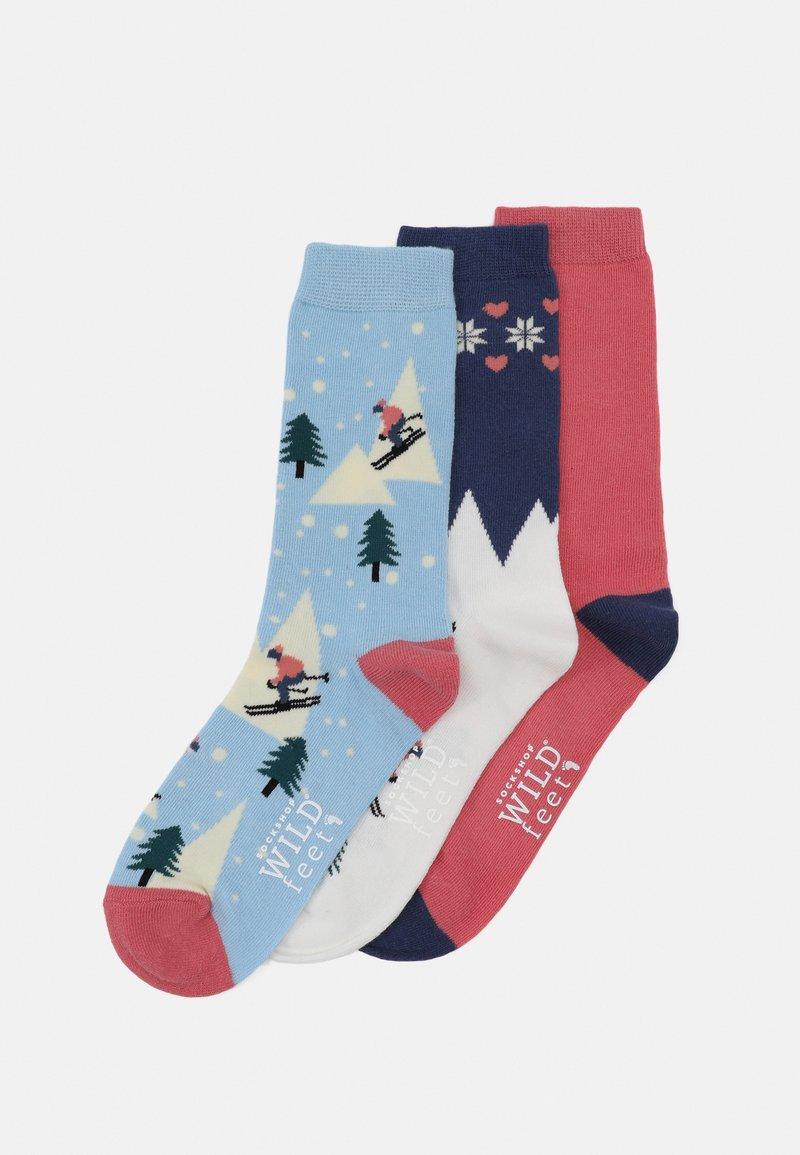 Wild Feet - SKI SCENE SOCKS 3 PACK - Ponožky - multi