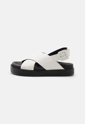 PIPPY - Platform sandals - white