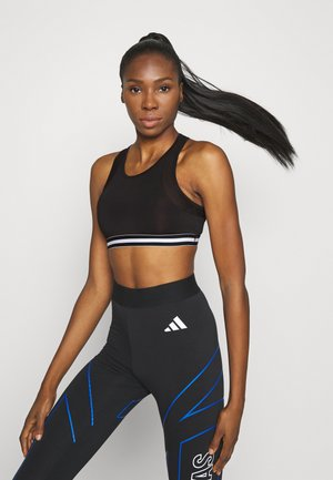 Medium support sports bra - black