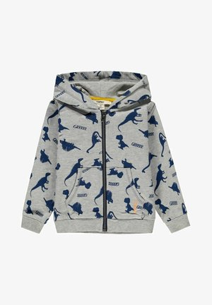 Sweater met rits - medium grey