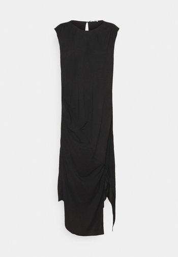 VALERIE SHOULDER DRESS - Denní šaty - black