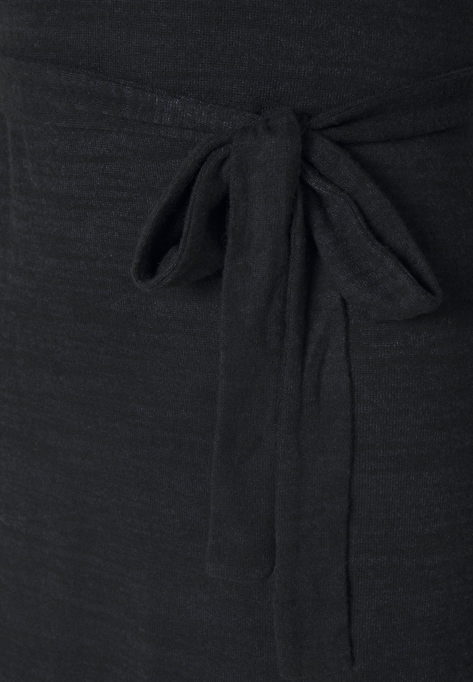 New New Arrival Women's Clothing Abercrombie & Fitch BELTED COZY DRESS Jumper dress black 51Fk8boO9 q71gBUp6F
