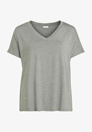 VIBELIS  - T-shirts basic - medium grey melange