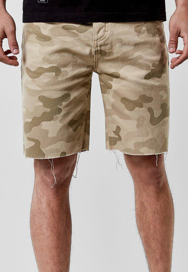 Denim shorts - sand