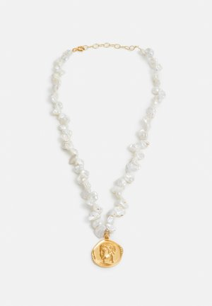 HERMIS LARGE PEARLS NECKLACE - Necklace - gold-coloured