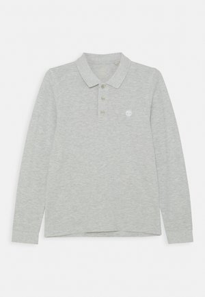 LONG SLEEVE - Polo shirt - chine grey