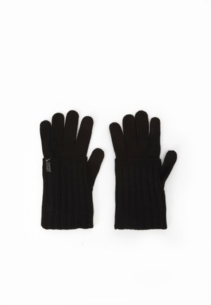 COLD WEATHER KNIT GLOVES - Gloves - black/black/silver