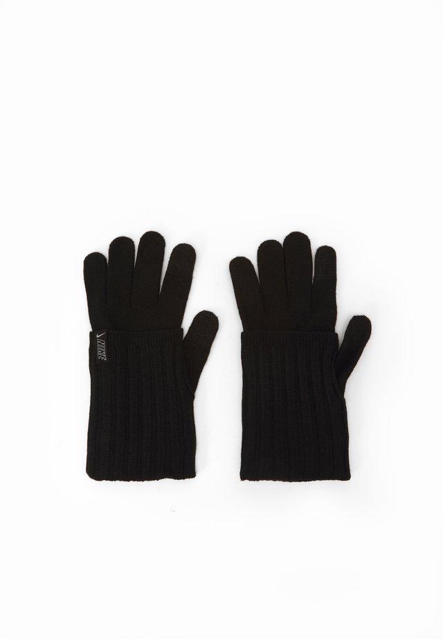 COLD WEATHER KNIT GLOVES - Sormikkaat - black/black/silver