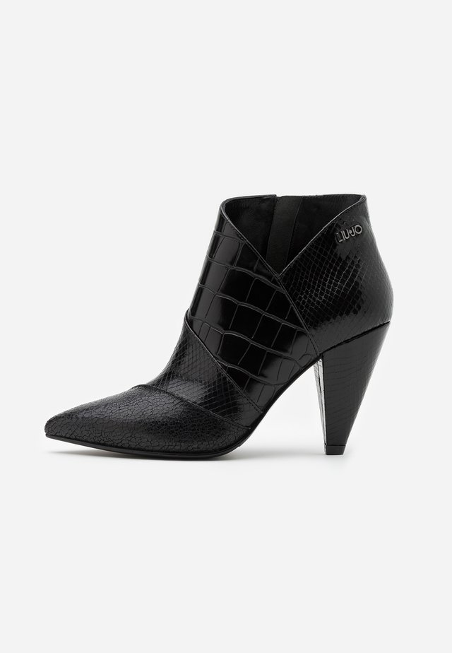 SUZIE  - High heeled ankle boots - black