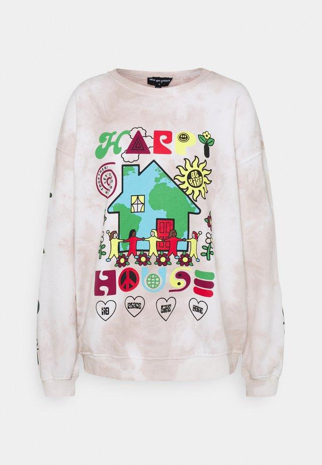 HAPPY HOUSE - Sweatshirt - grey tie dye
